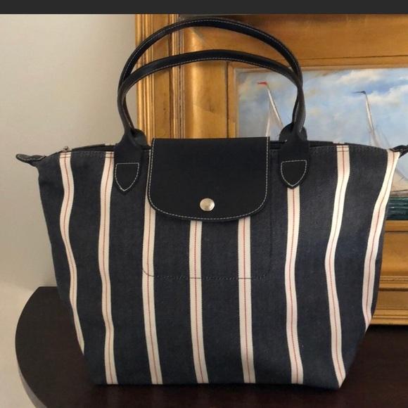 Longchamp Handbags - Sale!! 🎉Stripe Longchamp Tote d81ec82782f2b